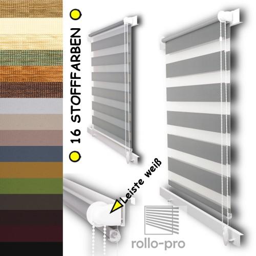 neu doppelrollo nach ma ohne bohren klemmfix duorollos jalousien plissees ebay. Black Bedroom Furniture Sets. Home Design Ideas