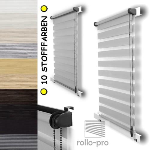 doppelrollo nach ma klemmfix duorollo seitenzugrollo rollos jalousien plissees ebay. Black Bedroom Furniture Sets. Home Design Ideas