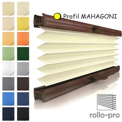 plissee faltrollo nach ma basel profil mahagoni rollos plissees jalousien ebay. Black Bedroom Furniture Sets. Home Design Ideas