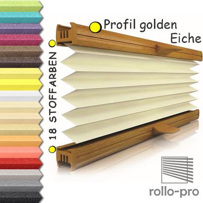 plissee faltrollo ohne bohren nach ma klemmfix basel pearl profil goldeneiche ebay. Black Bedroom Furniture Sets. Home Design Ideas