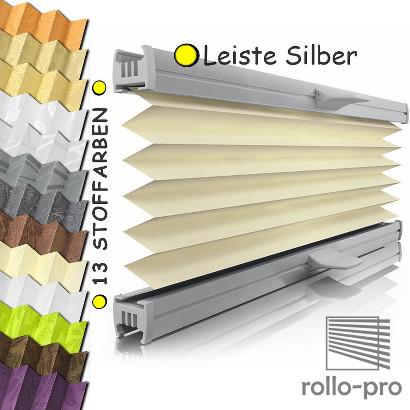plissee faltrollo nach ma figurado profil silber rollos plissees jalousien ebay. Black Bedroom Furniture Sets. Home Design Ideas
