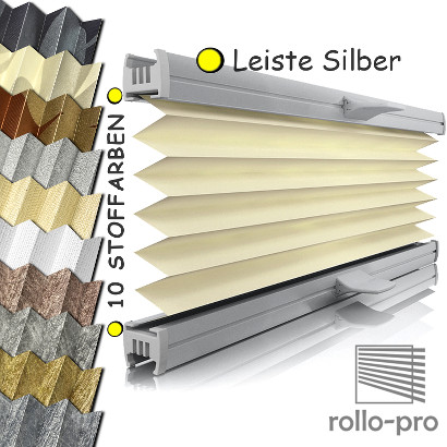plissee faltrollo ohne bohren plisee nach ma klemmfix metallico profil silber ebay. Black Bedroom Furniture Sets. Home Design Ideas