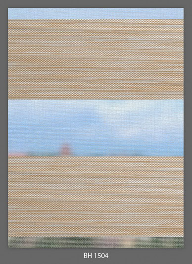 Doppelrollo Sand BH-1504 Maßanfertigung