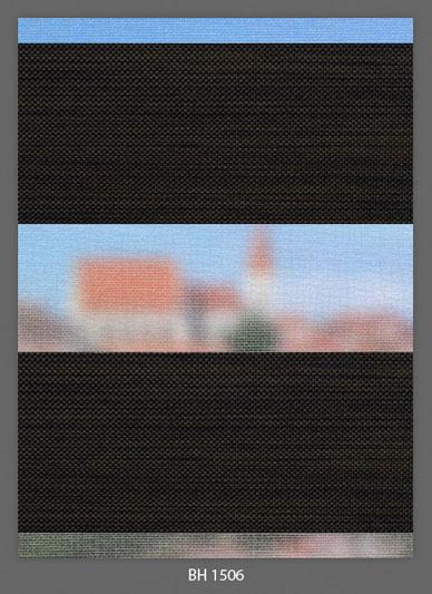 Doppelrollo Dunkelbraun BH-1506 Maßanfertigung