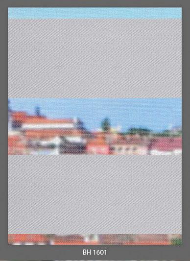 Doppelrollo Grau BH-1601 Maßanfertigung