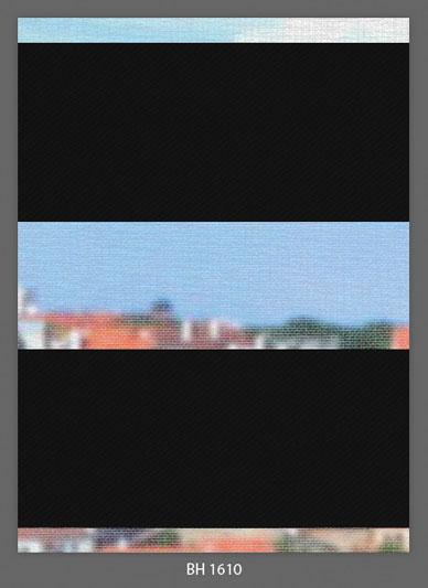 Doppelrollo Schwarz BH-1610 Maßanfertigung