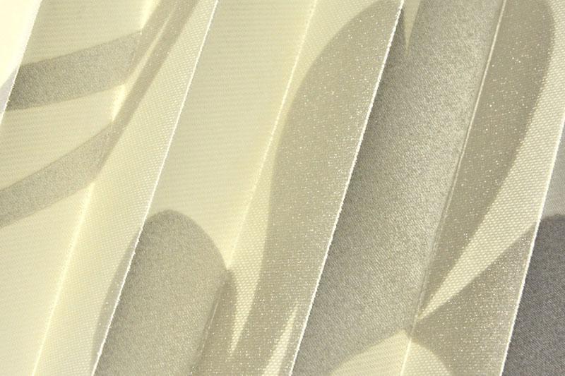 Plissee Cremeweiß und Silber California-1 Maßanfertigung