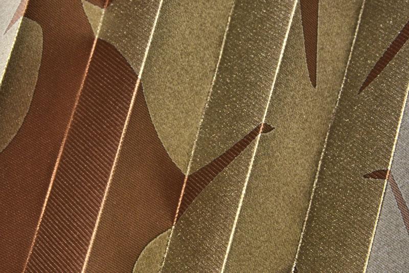 Plissee Braun und Gold California-2 Maßanfertigung