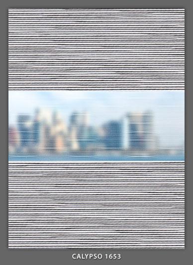 Doppelrollo Grau Calypso-1653 Maßanfertigung