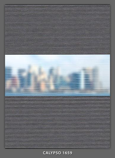 Doppelrollo Grau Calypso-1659 Maßanfertigung