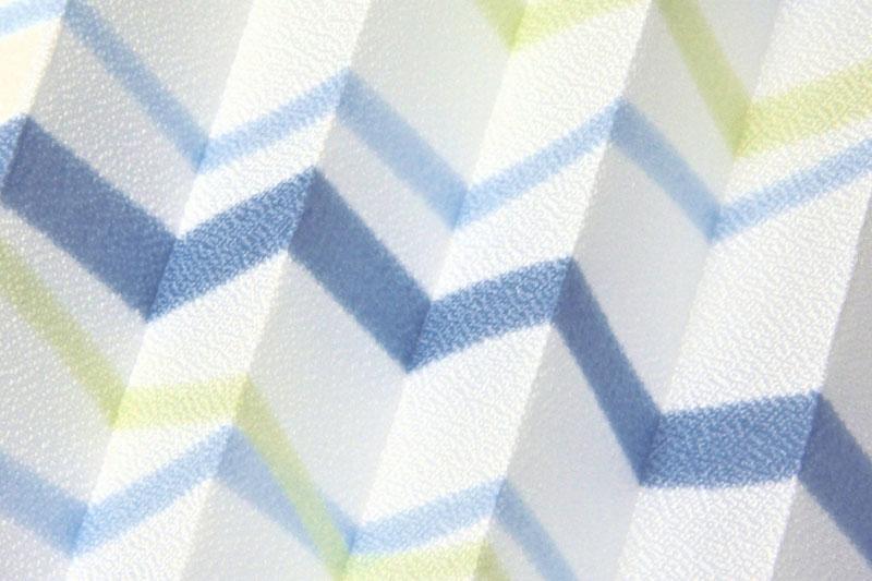 Plissee Weiß und Blau Flowers-902 Maßanfertigung