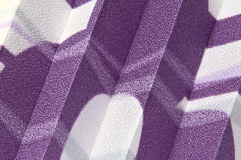 Plissee Weiß und Violett Flowers-909 Maßanfertigung