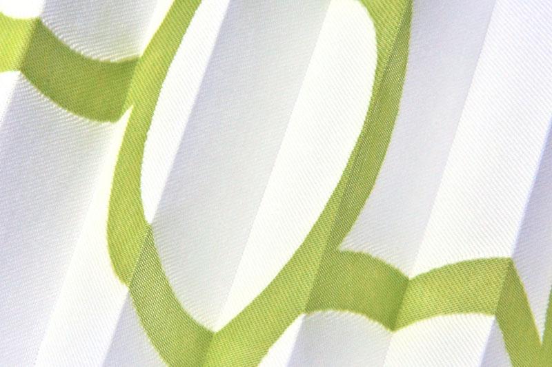 Plissee Weiß und Grün Kabul-9345 Maßanfertigung