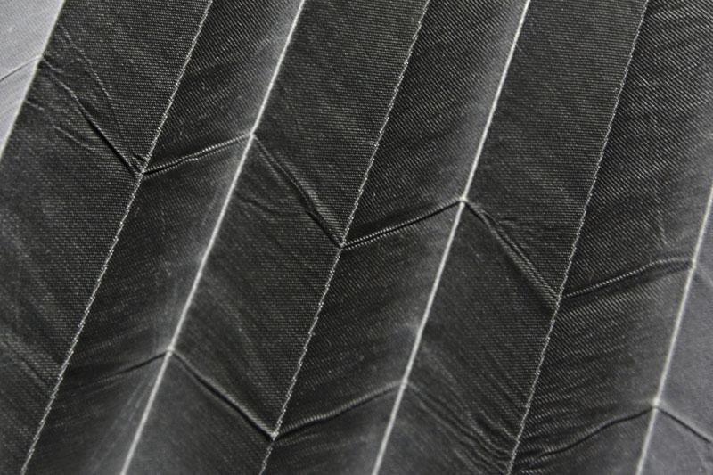 Plissee Grau KamariPearl-204 Maßanfertigung