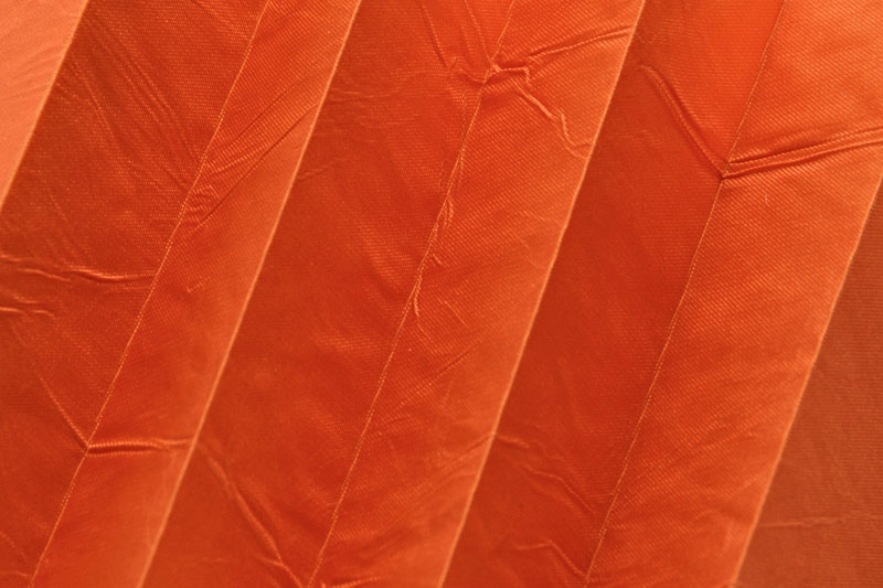 Plissee Gelborange KamariPearl-224 Maßanfertigung