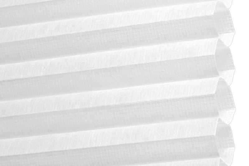 Plissee Weiß Lima-1 Maßanfertigung