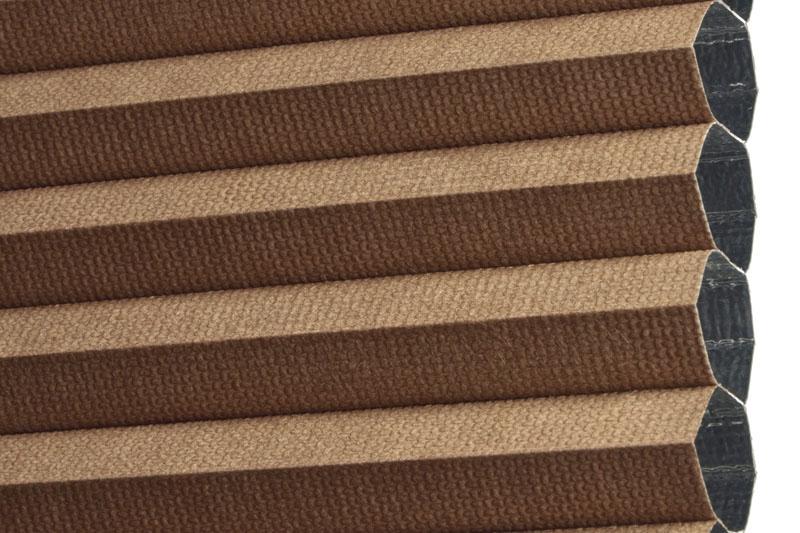 Plissee Braun LimaBO-2802 Maßanfertigung