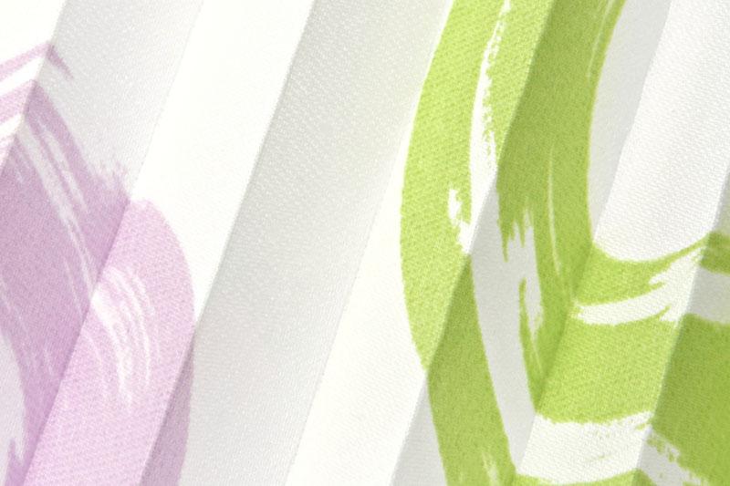 Plissee Weiß, Grün und Violett Loara-1461 Maßanfertigung
