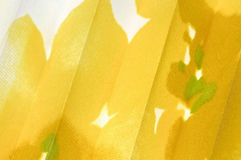 Plissee Weiß und Gelb Loara-1596 Maßanfertigung