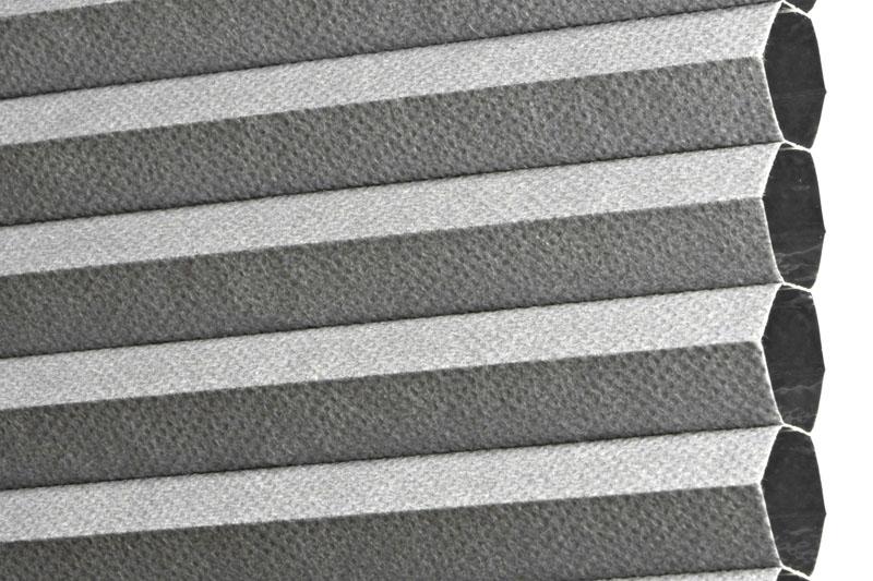 Plissee Grau MontrealBO-7640 Maßanfertigung