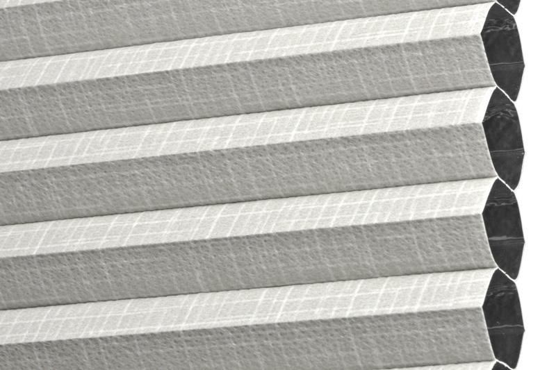 Plissee Hellgrau Ottawa-5320 Maßanfertigung