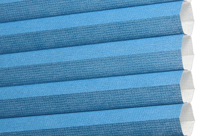 Plissee Blau Palma-260 Maßanfertigung