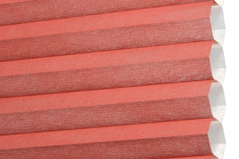 Plissee Rot Palma-300 Maßanfertigung