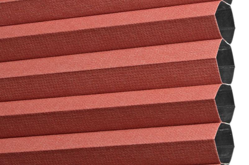 Plissee Rot PalmaBO-5300 Maßanfertigung