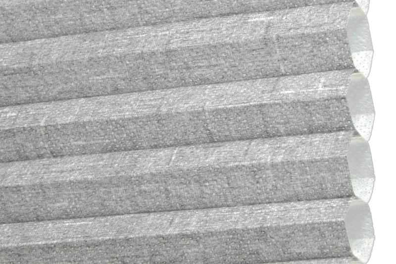 Plissee Graublau Quebec-5340 Maßanfertigung
