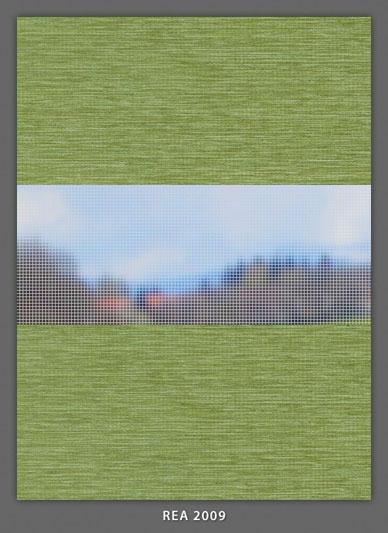 Doppelrollo Grün rea-2009 Maßanfertigung