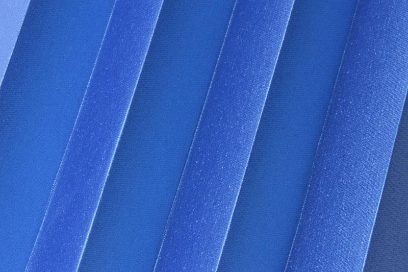 Plissee Blau Shine-1049 Maßanfertigung