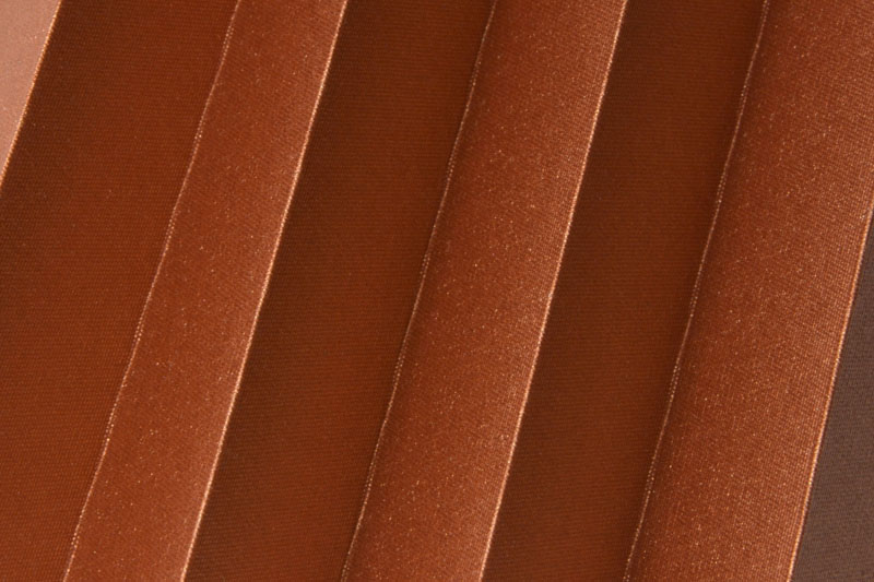Plissee Kupfer Shine-1051 Maßanfertigung