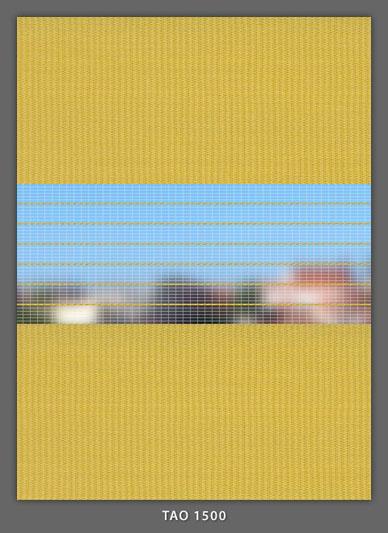 Doppelrollo Gelb Tao-1500 Maßanfertigung