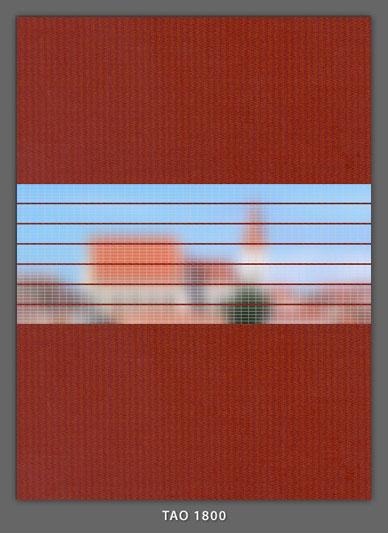 Doppelrollo Ziegelfarbe Tao-1800 Maßanfertigung