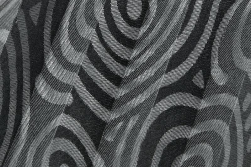 Plissee Schwarz Yuki-36 Maßanfertigung